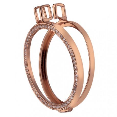 Stříbrný přívěsek Hot Diamonds Emozioni Reversible Coin Keeper Rose Gold