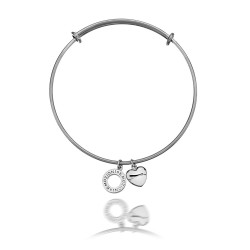 Ocelový náramek Hot Diamonds Emozioni Silver Bangle