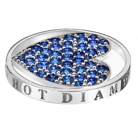 Přívěsek Hot Diamonds Emozioni Azure Sparkle Heart Mirage Coin