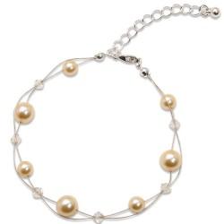 Náramek s perlami Sunny Pearl Light Gold