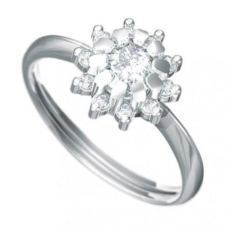 e9ae4f00d Zásnubní prsten s briliantem Dianka 807 - NAUSNICE.CZ