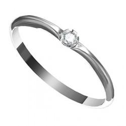 Zásnubní prsten s briliantem Leonka 001