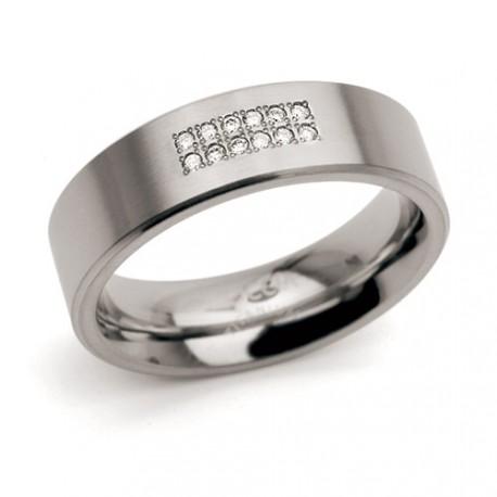Titanový prsten s diamanty Boccia 0101-18