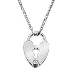 Stříbrný přívěsek Hot Diamonds Love Lock