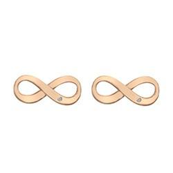 Stříbrné náušnice Hot Diamonds Infinity Rose Gold