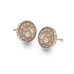 Stříbrné náušnice Hot Diamonds Emozioni Scintilla Champagne Rose Gold