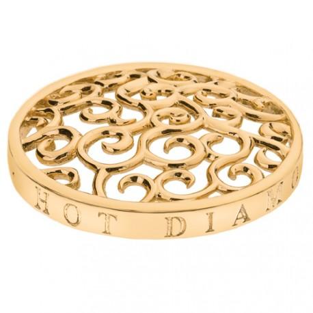 Přívěsek Hot Diamonds Emozioni Winding Path Yellow Gold Coin