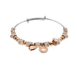 Ocelový náramek Hot Diamonds Emozioni Crystal Star Rose Gold