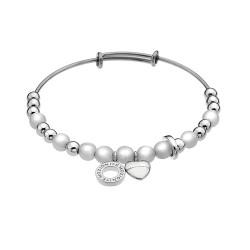 Ocelový náramek Hot Diamonds Emozioni Faux Mother of Pearl