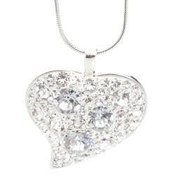 Náhrdelník s krystaly Swarovski Heart Crystal Large