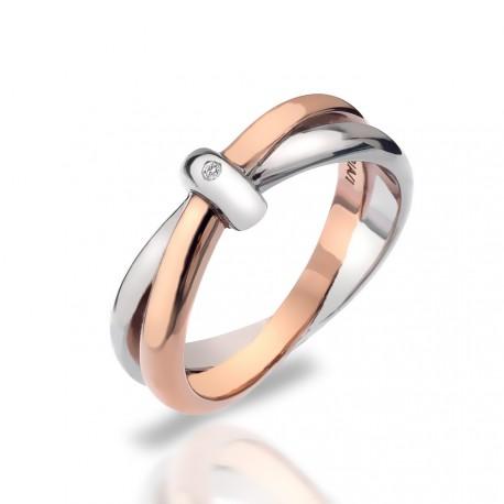 Stříbrný prsten Hot Diamonds Eternity Vermeil