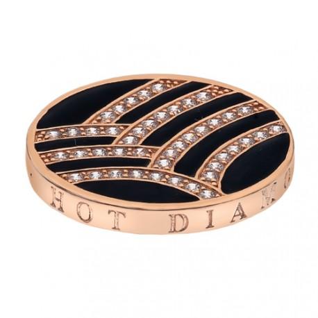 Přívěsek Hot Diamonds Emozioni Art Deco Curve Rose Coin