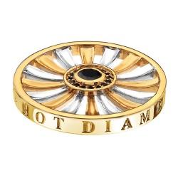 Přívěsek Hot Diamonds Emozioni Art Deco Sunrise Yellow Coin