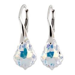 Stříbrné náušnice s krystaly Swarovski Baroque CZAB