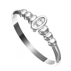 Zásnubní prsten s briliantem Leonka 012
