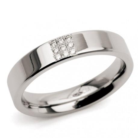 Titanový prsten s diamanty Boccia 0121-02