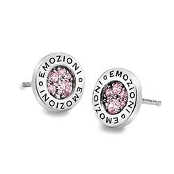 Stříbrné náušnice Hot Diamonds Emozioni Scintilla Pink Compassion