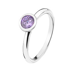 Stříbrný prsten Hot Diamonds Emozioni Scintilla Lavender Calmness