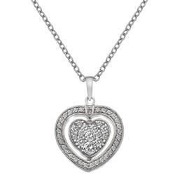 Stříbrný náhrdelník Hot Diamonds Turning Heart