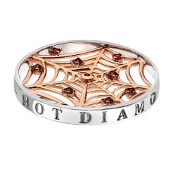 Přívěsek Hot Diamonds Emozioni Consistenza Web Rose Coin