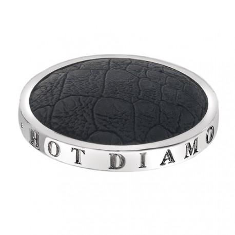 Přívěsek Hot Diamonds Emozioni Faux Crocodile Black Coin