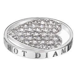 Přívěsek Hot Diamonds Emozioni Ice Sparkle Heart Mirage Coin