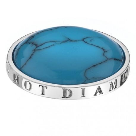 Stříbrný přívěsek Hot Diamonds Emozioni Turquoise Coin