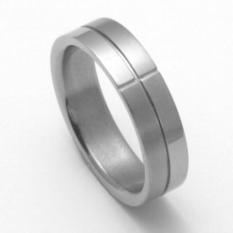 Pánský titanový snubní prsten TTN2101