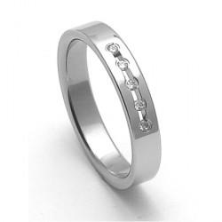 Dámský ocelový snubní prsten RZ04025