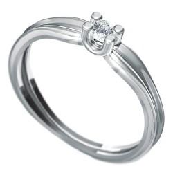 Zásnubní prsten s briliantem Dianka 811
