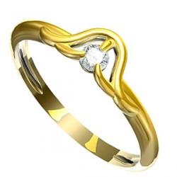 Zásnubní prsten s briliantem Leonka 005