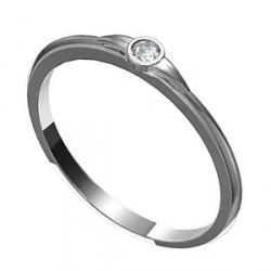 Zásnubní prsten s briliantem Leonka 003
