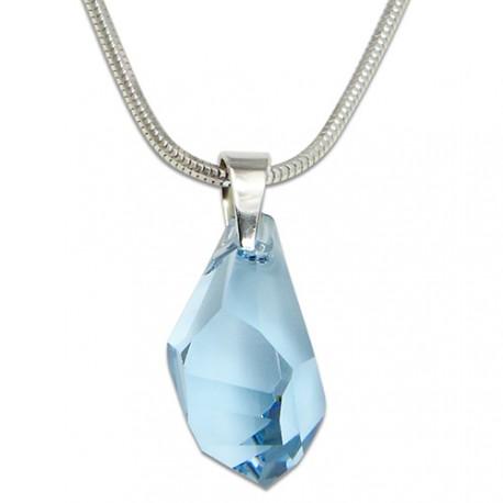 Náhrdelník s krystalem Swarovski Polygon Blue