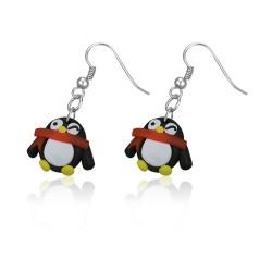 FIMO náušnice - tučňák