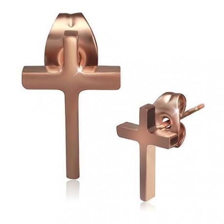 Pozlacené ocelové pecky - kříž