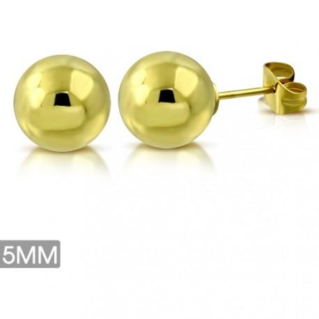 Ocelové kuličky - zlaté