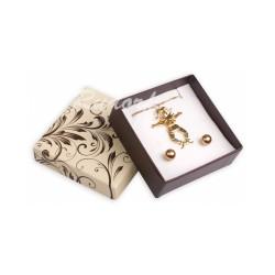 Dárková krabička s motivem POEM krémovo-hnědá