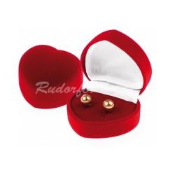 Dárková krabička ve tvaru srdce AMORE červená