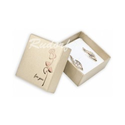 Dárková krabička s růží VALENTÝN zlatá