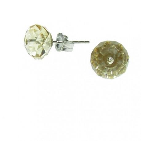 Stříbrné náušnice s krystaly Swarovski