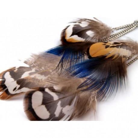 Peříčkové náušnice barevné-12 cm
