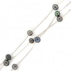 stříbrný náhrdelník B398 BL