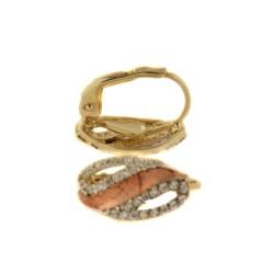 Zlaté náušnice E10500-420-3