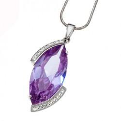 Stříbrný přívěsek Drama - 61048 - Ag925 (violet)