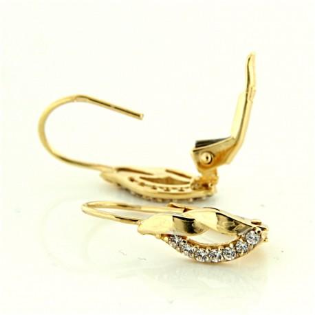 Zlaté náušnice E10500-248