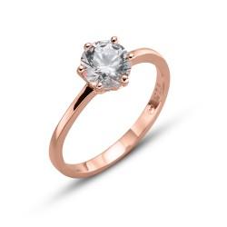 Stříbrný prsten Oliver Weber Brilliance large - 63222 (crystal / rosegold)