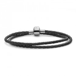 Náramek Oliver Weber Match it Armband Leather - black double