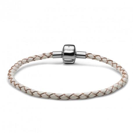 Náramek Oliver Weber Match it Armband Leather - white simple