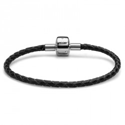 Náramek Oliver Weber Match it Armband Leather - black