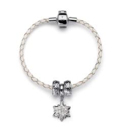 Náramek Oliver Weber Charmed Edelweiss (white/crystal)